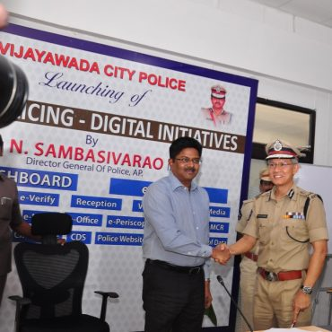 Inauguration of CP Dashboard by Sri N. Sambasiva Rao, IPS, DGP, A.P. at Command & Control Room, Vijayawada