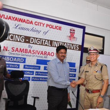 Inauguration of CP Dashboard by Sri N. Sambasiva Rao, IPS, DGP, A.P. at Command & Control Room, Vijayawada