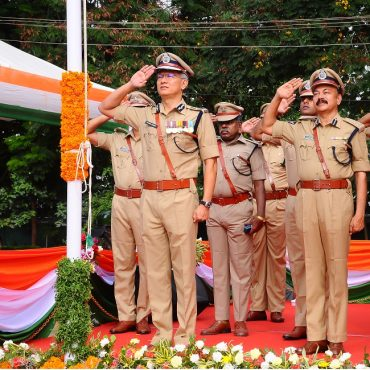 Sri D. Gautam Sawang, IPS, Commissioner of Police participating in Independence Day Celebrations on 15.08.2017 at CAR Grounds in Vijayawada