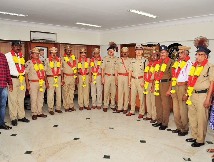 Hearty Send-off to Police Officers and Police personnel in their retirement function on 01.07.2017