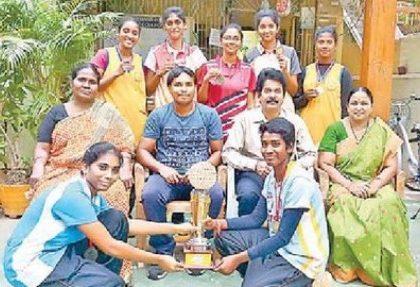 రాష్ట్ర  స్థాయి బాస్కెట్ బాల్ విజేత కృష్ణా బాలికలు
