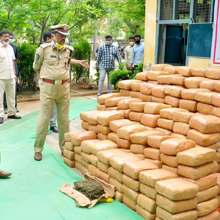 TASK FORCE POLICE 546kgs GANJA SEIZED - 25.06.2020