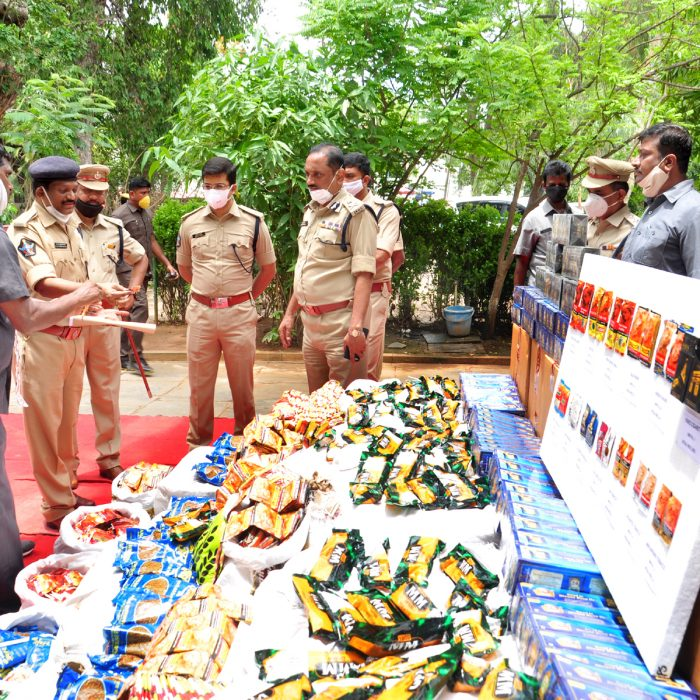 TASKFORCE POLICE SEIZED ILLEGAL GUTKA PACKETS