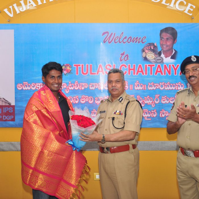 CP, SIR COMPLIMENTS THE SWIMMER THULASI CHAITANYA